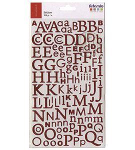 Alfabeto adhesivo - purpurina roja - 11004046