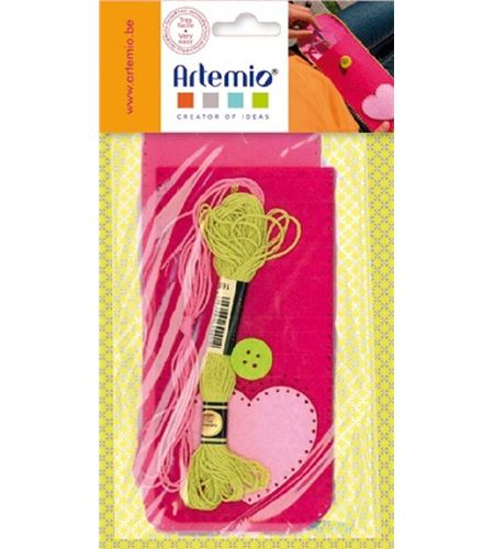 Kit de fieltro - estuche para lápices rosa - 13070178