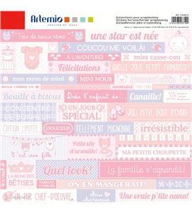 Etiquetas adhesivas para scrapbook - nacimiento bebé - 11004415