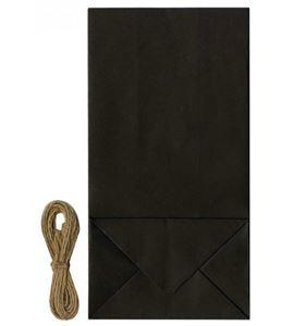 Set de bolsas kraft y cuerda rústica - negra - 14030067