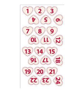 Números de fieltro adviento - corazones beige/rojo - 13070115-1