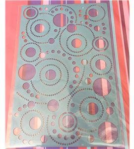 Plantilla de gofrado para bigshot - círculos - 18040004