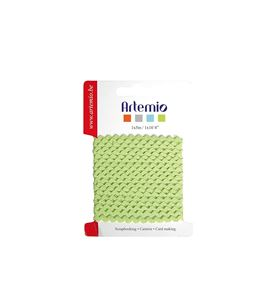 Cinta de tela para manualidades - zig zag verde - 11005101