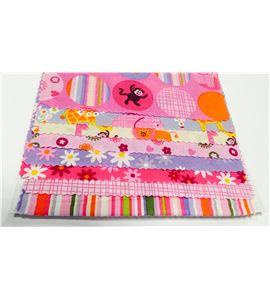 Set de telas infantiles - animales rosa - 13061001