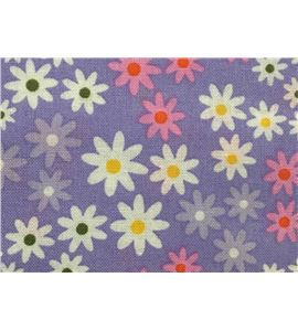 Tela de algodón - flores violeta - 13062005