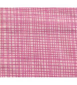 Tela de algodón - cuadro rosa - 13062007