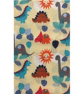 Tela de algodón - dinosaurios beige - 13062009