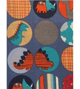 Tela de algodón - dinosaurios azul - 13062011
