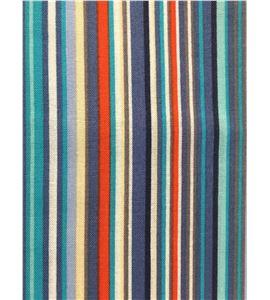 Tela de algodón - rayas multicolor azul - 13062016