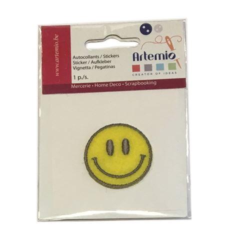 Parche adhesivo bordado - emoticono - 13063033