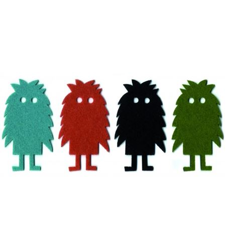 Fieltro 4 monstruos multicolor - FE156A01