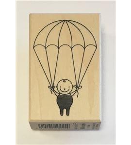 Sello de madera - bebé paracaidas - ARTHF658