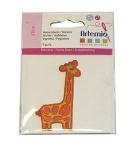Parche adhesivo bordado - jirafa - 13063017