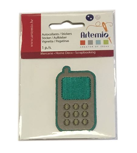 Parche adhesivo bordado - teléfono móvil - 13063031