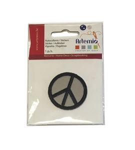 Parche adhesivo bordado - símbolo de la paz gris - 13063036