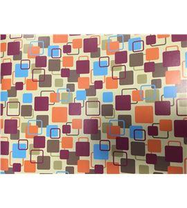 Hoja de papel retro cuadros pequeños 50 x 70cm. - 12001043