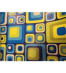 Hoja de papel retro cuadros 50 x 70cm. - 12001051