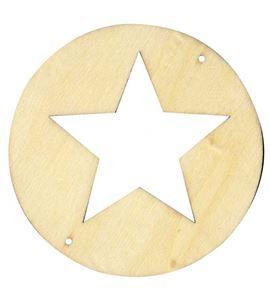 Kit de móvil de madera - círculo con estrella - 14001438