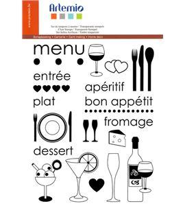 Set de sellos transparentes - menú y aperitivos - 10001202