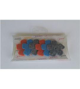Fieltro set 6 flores - FE21BWS