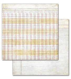 Papel de scrapbook - ledger - 19420