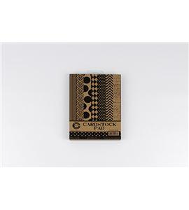 Bloc de papel-cartulina 35h - black & kraft - CCP2576