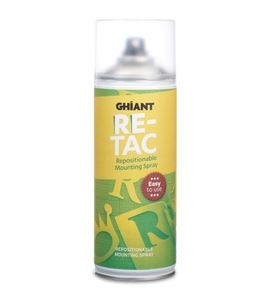 Adhesivo reposicionable transparente ghiant re-tac 400 ml. - 1302