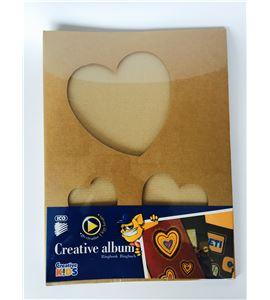 Álbum scrapbook kraft - corazones - 7470179000
