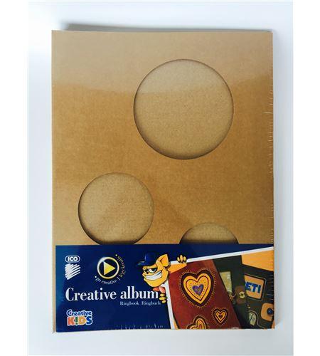 Álbum scrapbook kraft - círculos - 7470179001