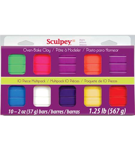 Estuche sculpey iii 10 colores - bright - 4105
