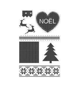 Set de sellos transparentes amor navidad - 10040024