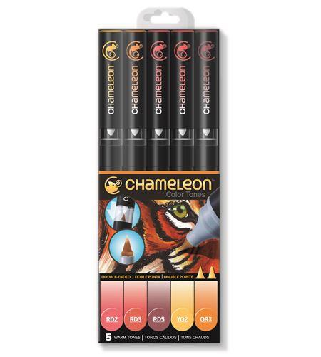 Set 5 rotuladores chameleon - warm tones - CT0511