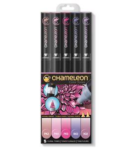 Set 5 rotuladores chameleon - florales tones - CT0512