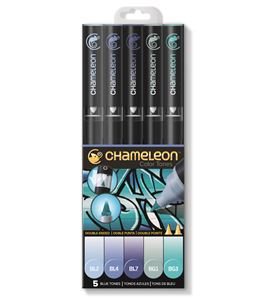 Set 5 rotuladores chameleon - blue tones - CT0513