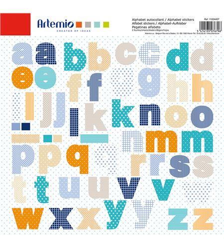 Adhesivos para scrapbook - abecedario azul - 11004407-1