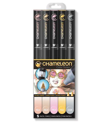 Set 5 rotuladores chameleon - pastel tones - CT0501