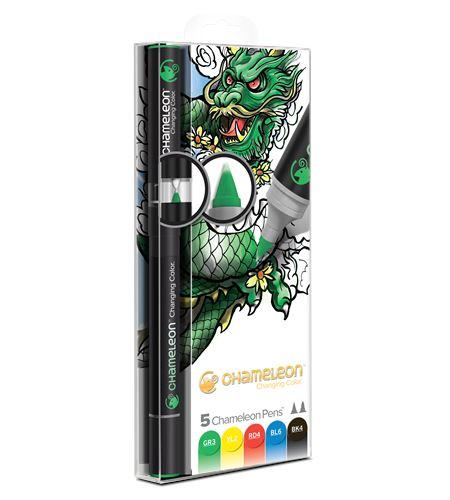 Set 5 rotuladores chameleon - primary tones - CT0502-2