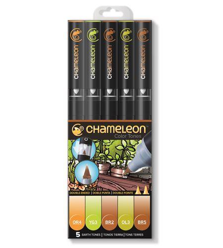 Set 5 rotuladores chameleon - earth tones - CT0503