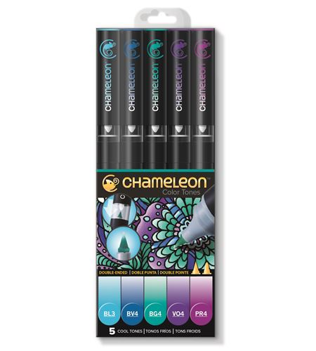 Set 5 rotuladores chameleon - cool tones - CT0504