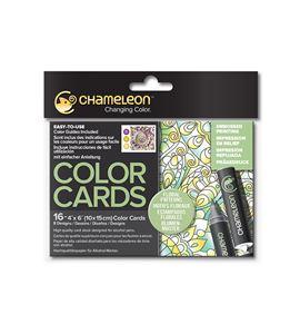 Color cards - floral patterns - CC0105