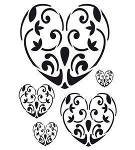 Plantilla / stencil a3 - corazones - 15060003