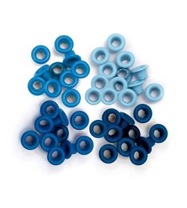 Set de eyelets - 4 tonos azul 60pc. - 415787