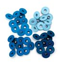 Set de eyelets - 4 tonos azul 40pc.