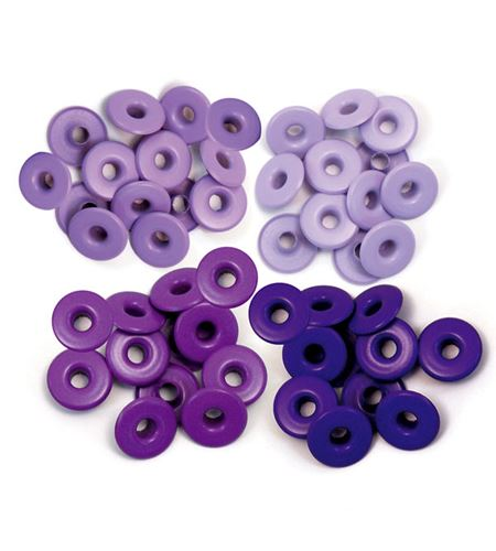 Set de eyelets - 4 tonos lila 40pc. - 415916