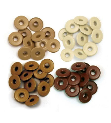 Set de eyelets - 4 tonos tierra 40pc. - 415930