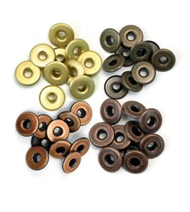 Set de eyelets - 4 tonos gris 40pc. - 41595-4
