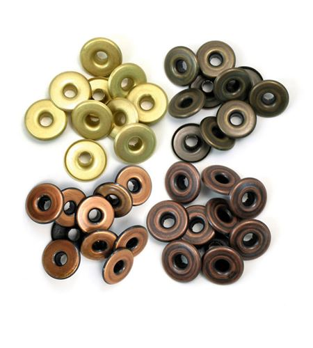 Set de eyelets - 4 tonos gris 40pc. - 41595-4