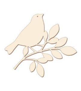 Silueta de madera pájaro 20 cm - 14001247