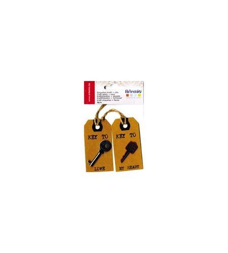 Etiquetas kraft con llave - 11006871