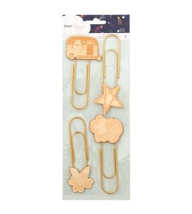 Pack de clip xxl con silueta de madera - 343434